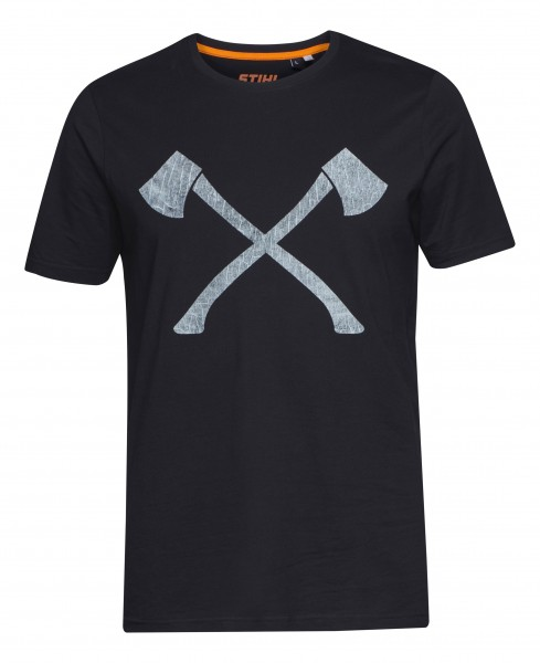 T-Shirt AXE WOOD schwarz