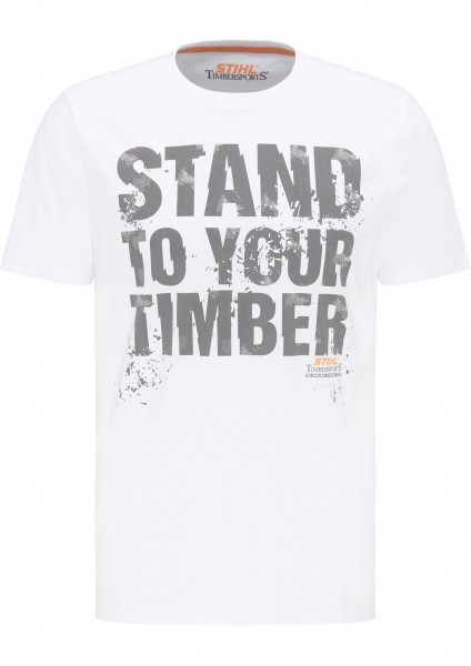 T-Shirt STAND TO YOUR TIMBER - Weiß