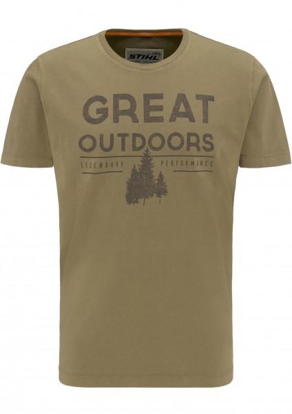 T-Shirt OUTDOORS - Grün