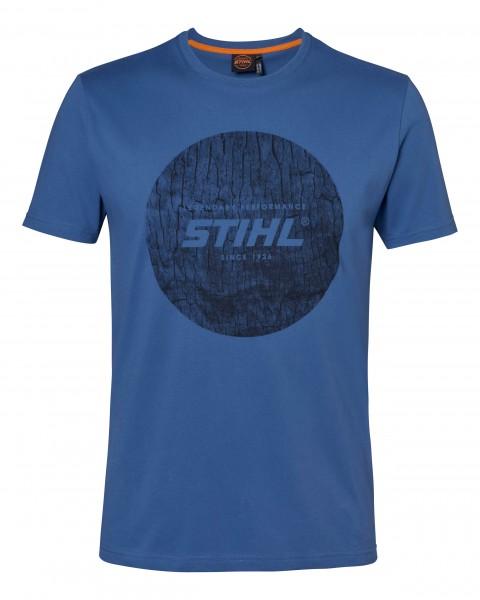 T-Shirt WOOD CIRCLE - Blau
