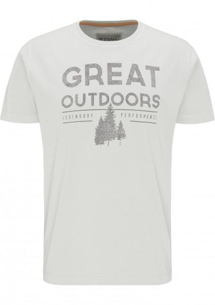 T-Shirt OUTDOORS - Grau