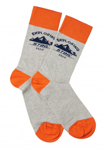 Socken EXPLORING, Grau
