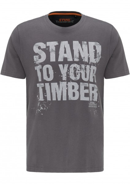 T-Shirt STAND TO YOUR TIMBER - Grau