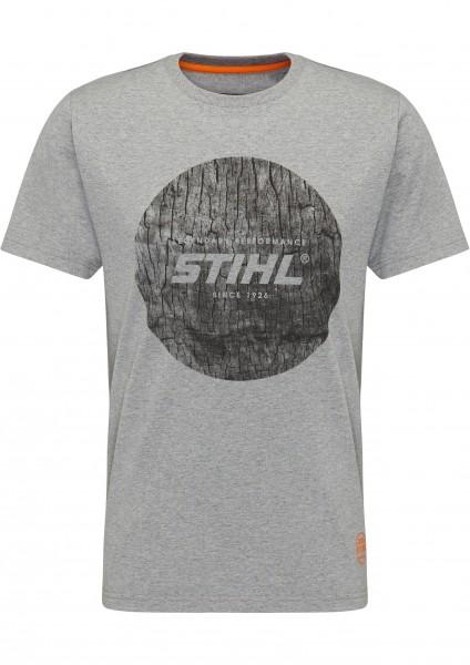 T-Shirt WOOD CIRCLE - Grau