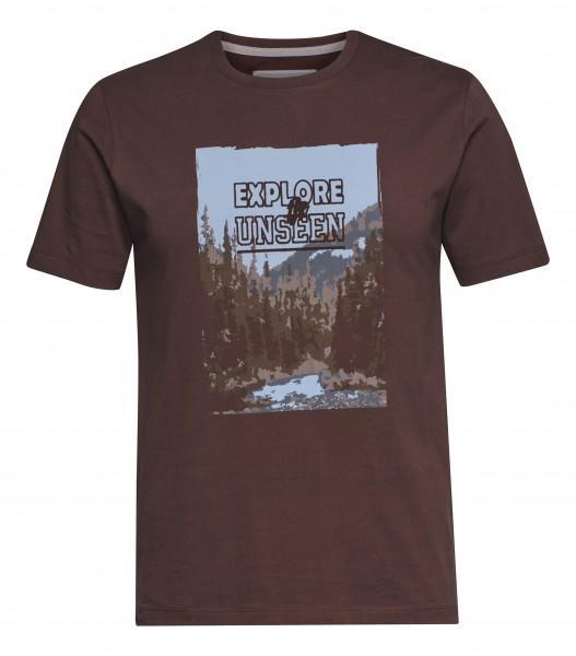 T-Shirt EXPLORE braun