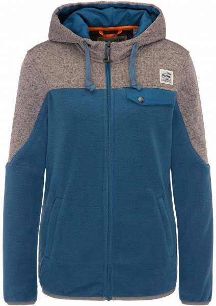 Fleecejacke Damen blau