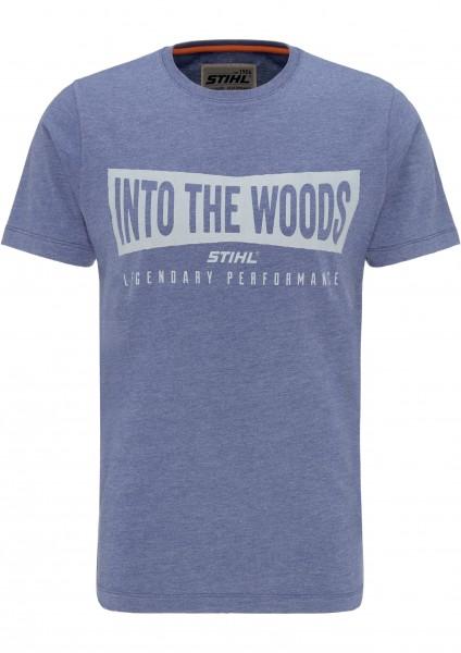 T-Shirt WOOD - Blau